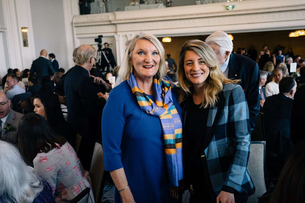 A photo of Claire Hopkinson and Melanie Joly.