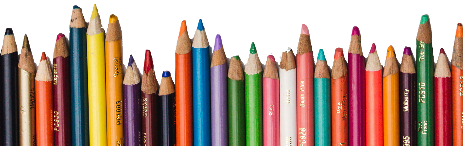 Bright coloured pencil crayons